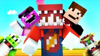 Minecraft Mario Hide and Seek! w/ ThatGuyBarney, SGCBarbierian and Yoshi! (Roleplay)