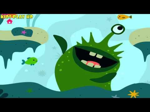 Развивающие Игры Sago Mini Для Детей.Рыбка Финс показывает вам свой мир.детское видео саго мини