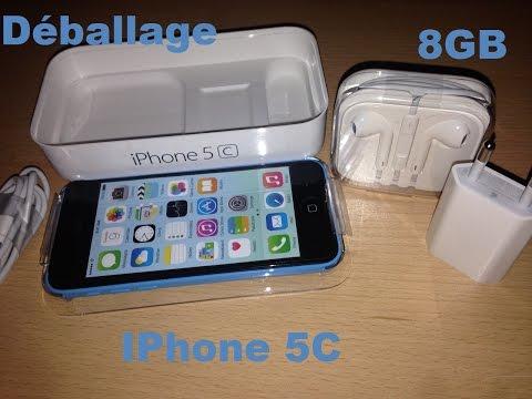 Déballage (Unboxing) : IPhone 5C Bleu 8GB