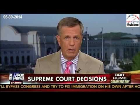 Supreme Court Decisions on Hobby Lobby Analyzed by Brit Hume