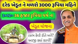 ગુજરાત ના દરેક ખેડૂત ને દર વર્ષે મળશે 36 હજાર રૂપિયા | pradhan mantri man dhan yojana