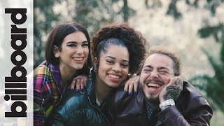 Behind the Scenes at Post Malone, Dua Lipa & Ella Mai's Grammy Preview Cover Shoot | Billboard