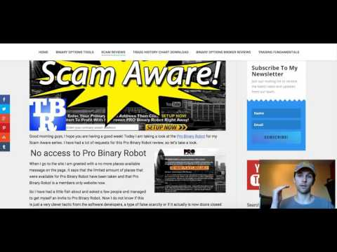 Pro Binary Robot Review 2016 - DON'T BUY