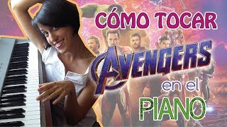 MOVIE 2 - Cómo tocar AVENGERS THEME en el PIANO - How to play Avengers Tutorial #ilovemymoviesong