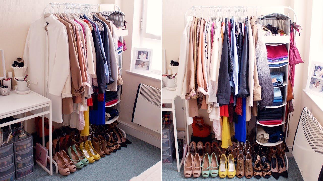 My Open Closet/Wardrobe!  INTERIOR - YouTube