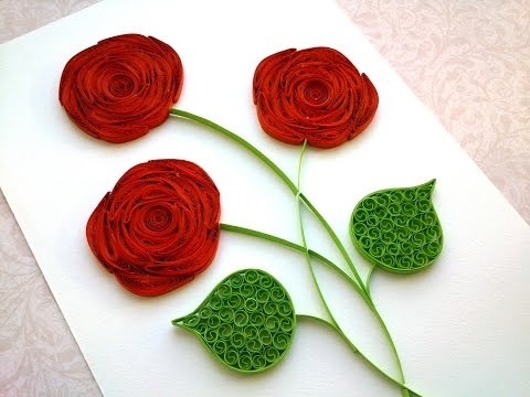 Quilling Rose Tutorial How to make a rose with a paper stripe. Quilling rose making