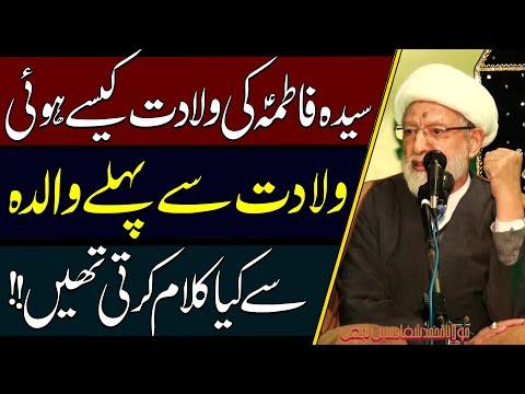 Syeda Fatima (a.s) Ki Wiladat Kaisay Hui..!! | Maulana Muhammad Shifa Hussain Najafi | 4K