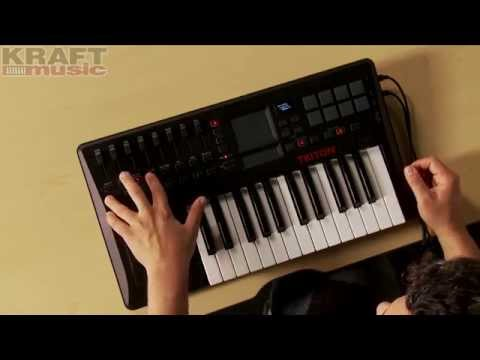 Kraft Music - Korg TRITON taktile Controller Demo with Rich Formidoni