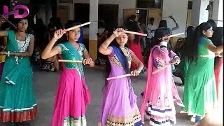 Aadivasi Village Collage girls Performs Dandiya dance, Ak Aadiwasi
