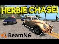 INSANE HERBIE POLICE CHASE & CRASHES!   BeamNG Gameplay & Crashes   Cop Escape