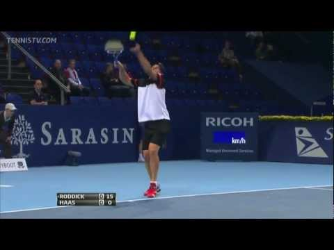 Basel 2011 Round 1: Roddick vs. Haas