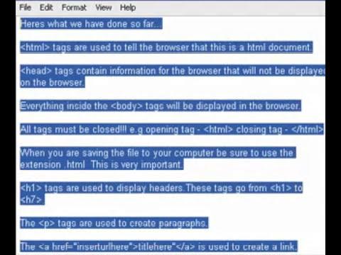 Basic HTML Tutorial
