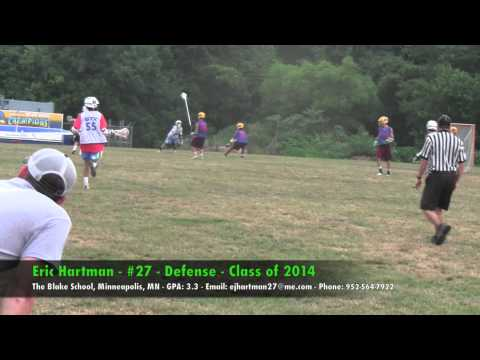 Eric Hartman - #27 - Defense - The Blake School, Minneapolis, MN - Class of 2014