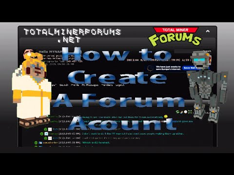 TotalMiner Forums Help-How to Create a Forum account.