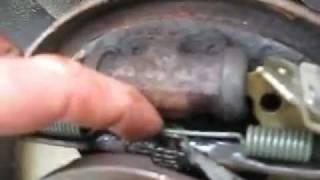 DRUM BRAKE JOB - HOW TO REPLACE DRUM BRAKE SHOES - Chrysler Example