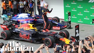 Max Verstappen says it's a 'shame' crash cost Red Bull teammate podium finish