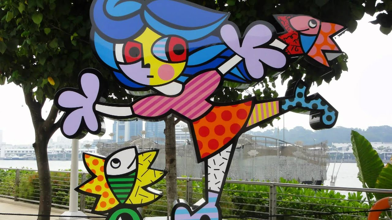 Colorful Art Sculptures By Romero Britto Resorts World