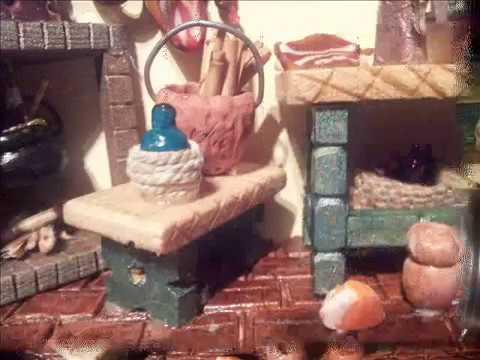 Tejas decoradas (escenas,un mundo en miniatura) - YouTube