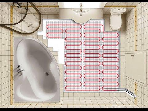 Водяной теплый пол в ванной комнате своими руками видео