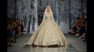 """Designer Ziad Nakad's  Haute Couture """"The Snow Crystal Forest"""" Fall/Winter 2017/18 Collection."""