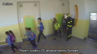 Havířov: Požární cvičení na ZŠ Jarošova