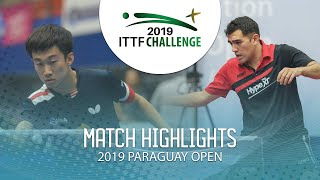Zhang Kai vs Gaston Alto | 2019 ITTF Paraguay Open Highlights (Group)