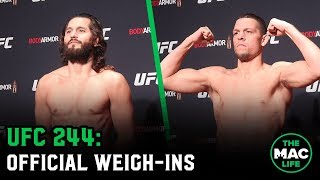 UFC 244 Official Weigh-Ins: Main Card