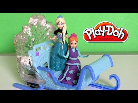 Disney Frozen Swirling Snow Sleigh with Princess Anna and Queen Elsa Magiclip - Magic Clip