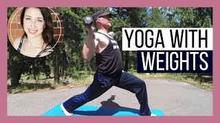 Iron Yoga - Yoga with Weights! - Power Yoga with Guest Sean Vigue {35 min}
