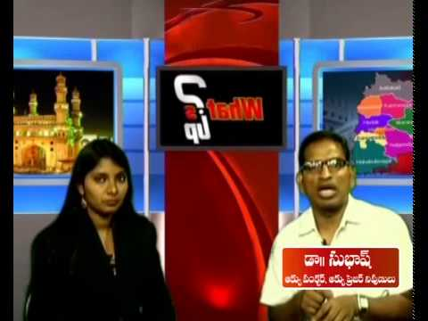 Subash giving interview to  local  telugu channel. Photo Image Pic