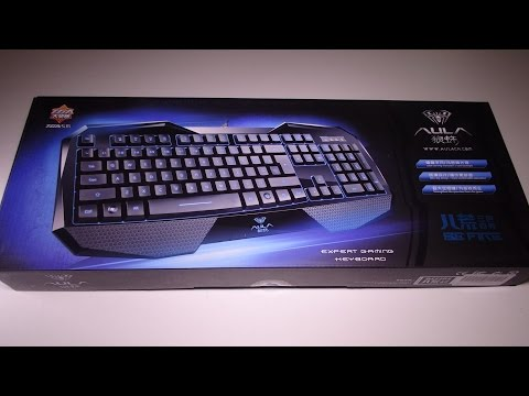 ZaKitane Aula 3 Colors LED Illuminated Backlight Backlit Gaming Keyboard