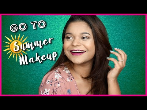 My Go To Summer Makeup Look | Make your makeup last || Miss Pink Shoes