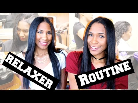 Our Salon Relaxer Routine   Relaxed Hair