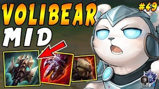 Volibear MID with reset Titanic Hydra + CHOMP = Instant BURST | Iron IV to Diamond Ep #49