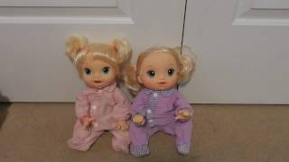 Baby Alives Mallerie and Charlotte Have A Sleepover!