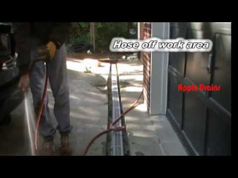 How To Install Trench Drain in Driveway. NDS Channel Drain. Driveway Drain. by Apple Drtains
