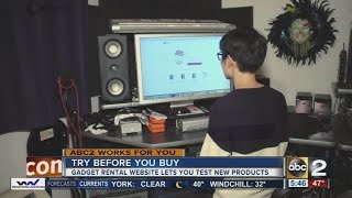 Technology rental websites allow consumers to try new gadgets before buying