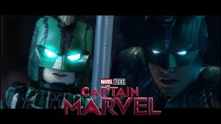 LEGO Captain MARVEL - official trailer re-creation! Side by Side version