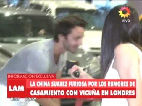La China Suárez no quiso hablar con la prensa y se mostró muy fastidiosa
