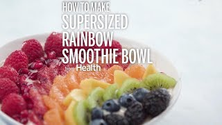 Supersized Fruit Rainbow Smoothie Bowl | Health