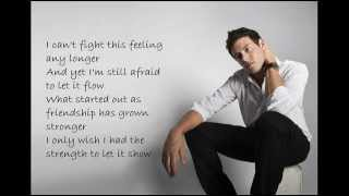 Cory Monteith (Glee) - Can't fight this feeling lyrics