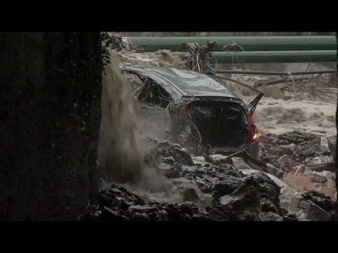 Deadly floods in France and Italy