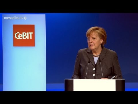 CeBIT 2014 - Eröffnung durch Angela Merkel und David Cameron
