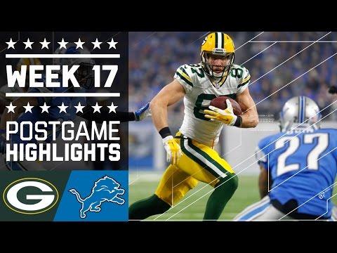 Packers Vs Lions Nfl Week 17 Game Highlights