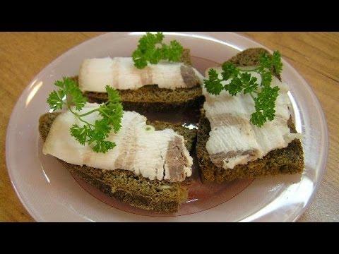 Варёное сало - видео рецепт
