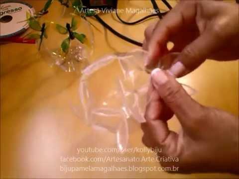 Borboletas feitas em garrafas pet passo a passo