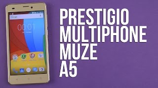 Распаковка Prestigio MultiPhone Muze A5 5502 Duo Gold
