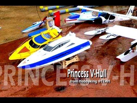 Hobbyking Princess V-Hull RC Boat - YouTube