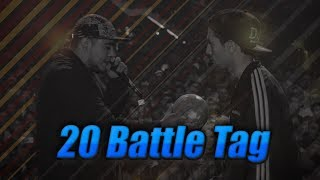 20 BATTLE TAG | Freestyle Rap Moment (50k Suscriptores) [Batallas de Gallos]