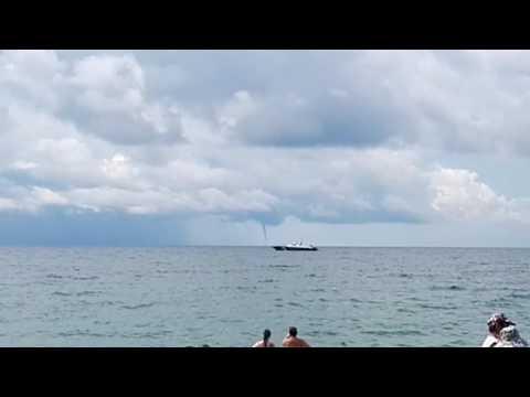 Очевидцы снимают над морем в Сочи 9 смерчей